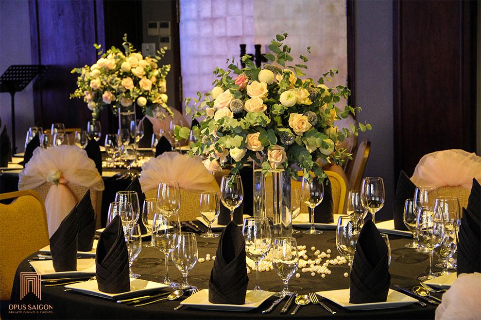 Trang trí tiệc kỉ niệm đám cưới Ngọc Trai