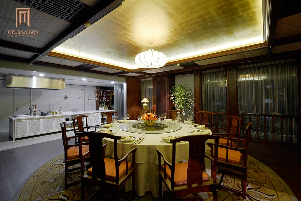 Gourmet private dining room